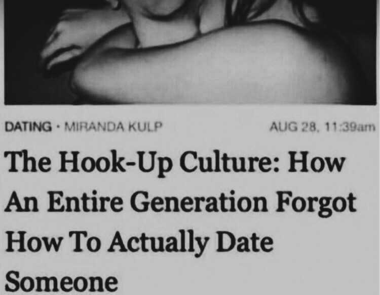 The hook up culture how an entire generation forgot how to actually date someone