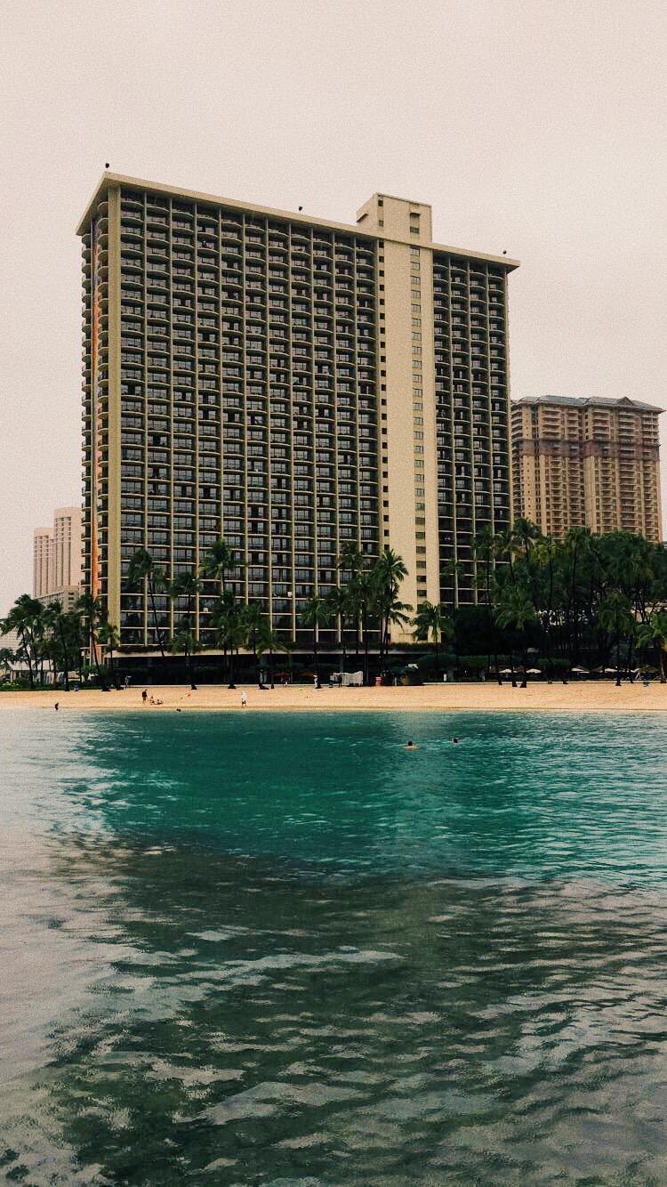 Hilton Hawaii Hotel Waikiki Beach Portrait Visual