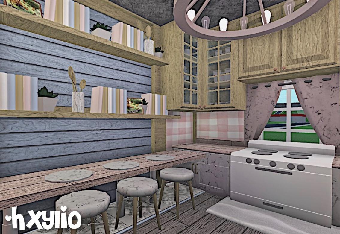 Small Cottage Kitchen Roblox Bloxburg Bloxburgbuilds Kitchen Interior Hxylio Vsco