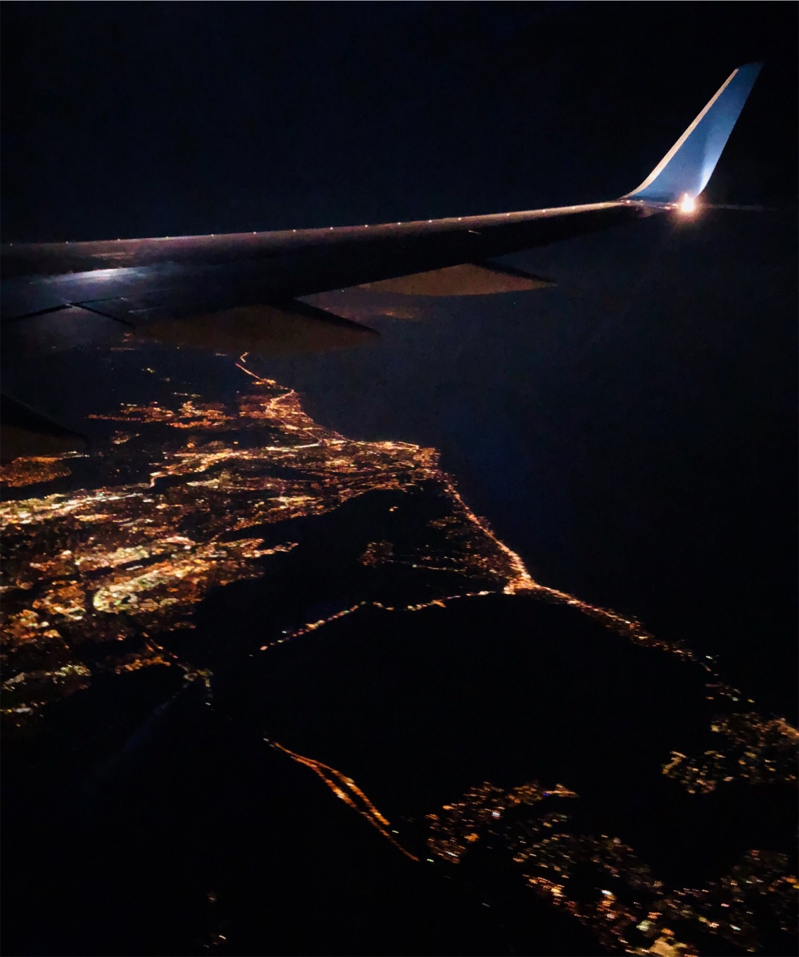 Airplane Window View Of La Night Keely Elizabeth Vsco