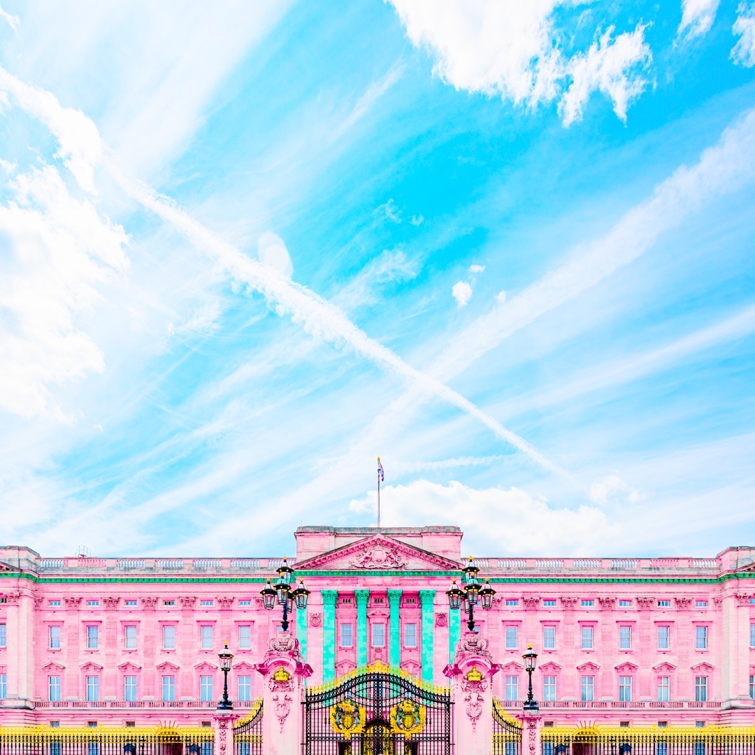 Buckinghampalace London England Uk Aesthetic Architecture Symmetry Pastel Pastels Pink Blue Yellow Abstract Graphicdesign Vaporwave Crump Vsco