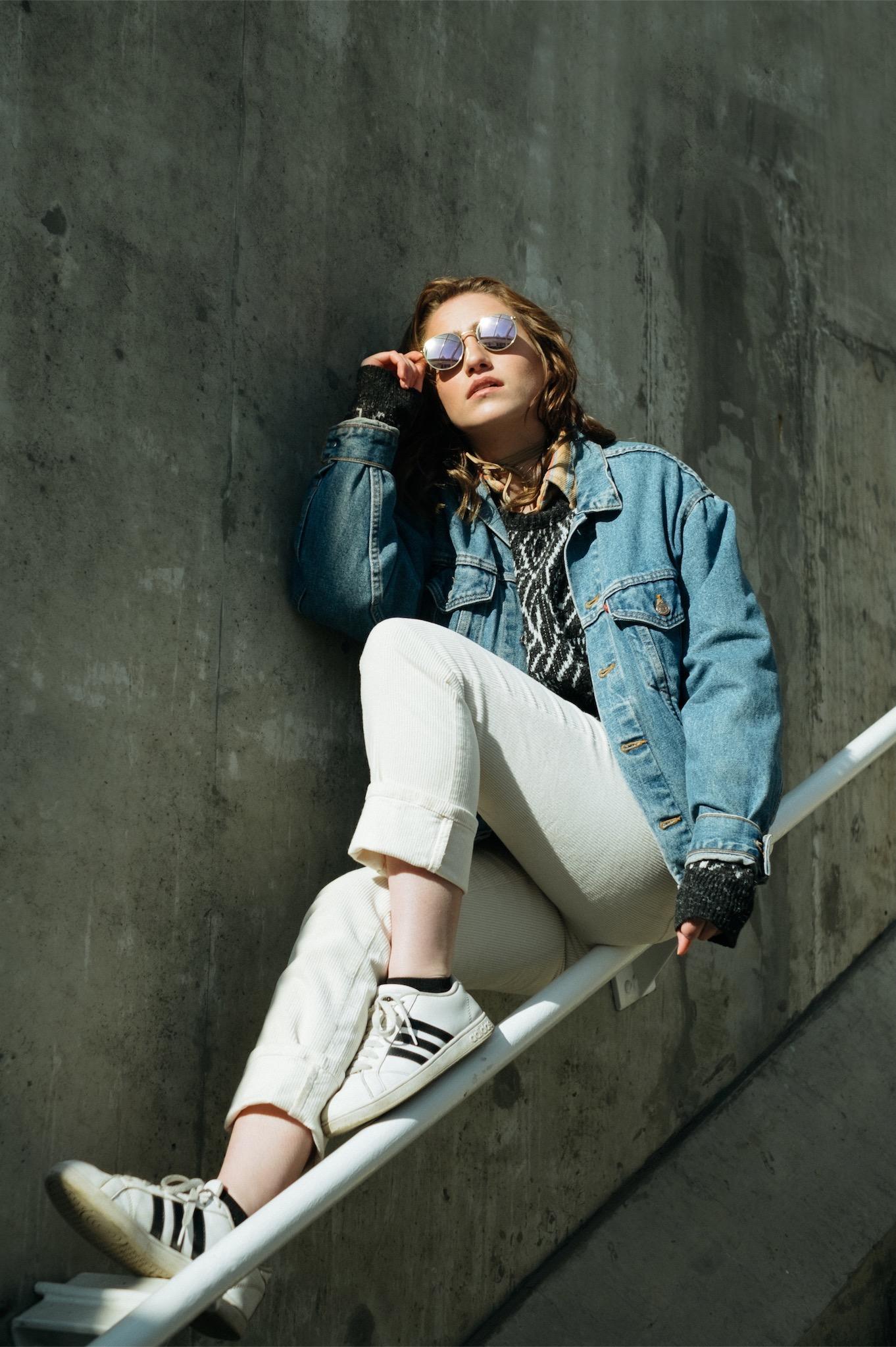 light shadows street natural model fashion moody girl