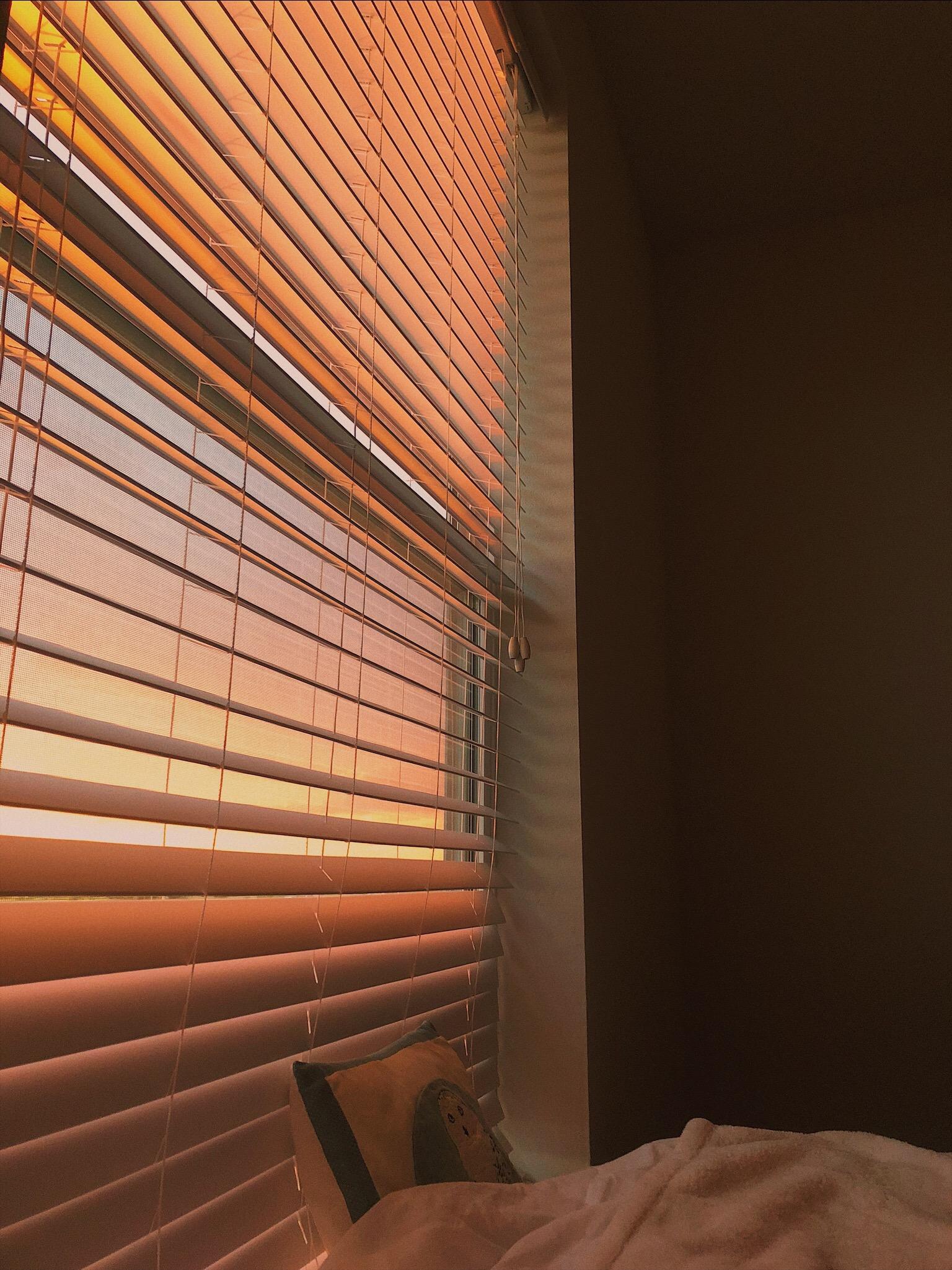 Golden Evening Sunset Window Blinds Summer2k19 Goodnight Aesthetic Fahrenheit 41 Vsco
