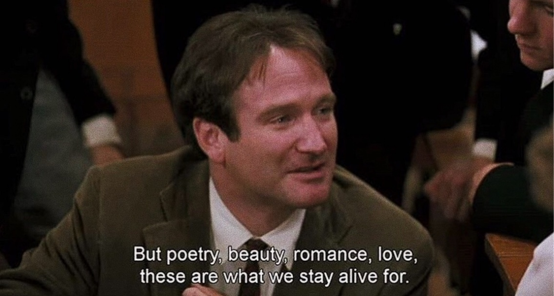 Dead Poets Society 1989 Robin Williams Movies Robinwilliams Rip 80s Poetry Beauty Romance Love 70s80s90s Vsco